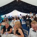 Dining under way in the splendid marquee